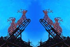 Christmas - Light Game - Rudolf Stock Image