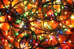 Christmas light garland. It is possible to use as a background Royalty Free Stock Images
