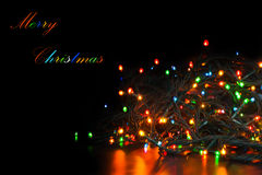 Christmas light garland Royalty Free Stock Image