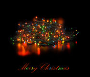 Christmas light garland Royalty Free Stock Photography
