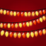 Christmas light garland Stock Image