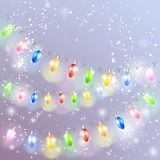 Christmas light garland. Royalty Free Stock Photography