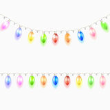 Christmas light garland. Stock Image