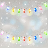 Christmas light garland. Royalty Free Stock Images
