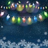 Christmas light garland. Royalty Free Stock Photo