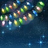Christmas light garland. Royalty Free Stock Image