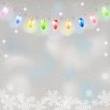 Christmas light garland. Stock Image