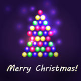 Christmas Light Garland Royalty Free Stock Photos