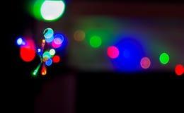 Christmas light garland whith fun color stock photography
