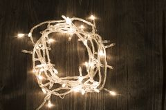 Christmas light garland stock images