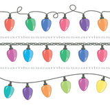 Vector Christmas light lamps Stock Photos