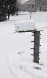 Christmas Light Mailbox Royalty Free Stock Photo