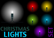 Christmas Light Set Royalty Free Stock Photos