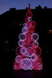 Christmas light show Royalty Free Stock Image