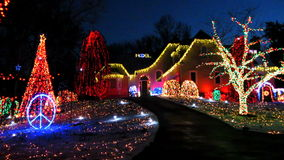 Christmas Light Show Royalty Free Stock Images