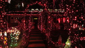 Christmas Light Show in Virginia stock footage