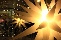 Christmas Light Snow Spikes. Christmas Snow spikes with lights in the backdrop Stock Image
