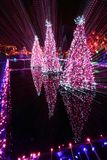 Christmas Light Streaks Royalty Free Stock Photos