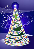 Christmas light tree Stock Images