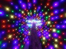 Christmas light tree Stock Photos