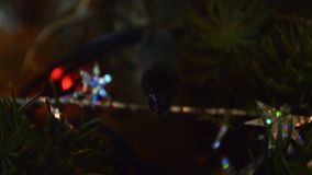 Christmas light turn on and off. Video captured with macro lens stock video footage