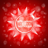 Christmas light vector background. Card or invitation. Christmas red light vector background. Card or invitation Royalty Free Stock Image