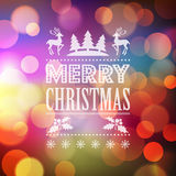 Christmas light vector background Royalty Free Stock Photos