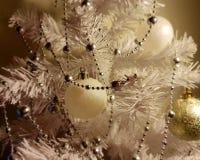 Christmas light,White Balls decoration ,illumination ideas,Christmas tree with colorful decoration stock photos