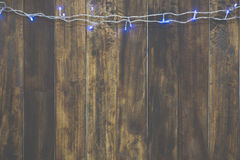 Christmas light wood Stock Image