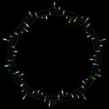 Christmas light wreath Royalty Free Stock Images