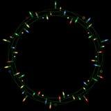 christmas light wreath Στοκ εικόνες με δικαίωμα ελεύθερης χρήσης