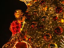 Christmas Lighting. Close up view of a christmas lighting decoration in Singapore Royalty Free Stock Image
