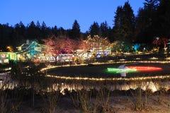 Christmas lighting Stock Image