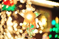 Christmas lighting Stock Image
