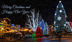 Christmas Lighting in Leavenworth. Christmas lighting festival in Leavenworth is one of the beautiful Christmas events. The lights are fantastic. You can Royalty Free Stock Photo