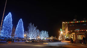 Christmas Lighting in Leavenworth  Royalty Free Stock Photos