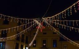 Christmas Lighting Star Stock Images
