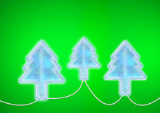 Christmas lighting trees lamps Royalty Free Stock Photo