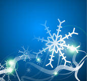 Christmas lightning abstraction snowflakes waves Stock Images