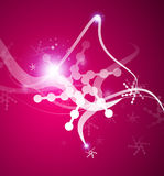 Christmas lightning abstraction snowflakes waves Royalty Free Stock Image