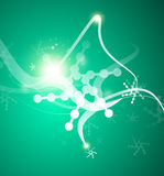 Christmas lightning abstraction snowflakes waves Royalty Free Stock Images