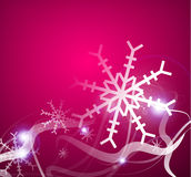Christmas lightning abstraction snowflakes waves Stock Photography