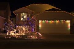 Christmas lights 1. Christmas lights on a home Royalty Free Stock Images