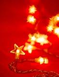 Christmas lights. Star shaped Christmas lights, shallow DOF Stock Photos