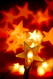 Christmas lights. Star shaped Christmas lights, shallow DOF Royalty Free Stock Photos
