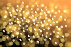 Christmas lights. Modern defocused yellow holiday background Royalty Free Stock Photos