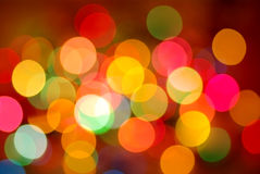 Christmas lights. Lights on the christmas tree out of focus Stock Photography