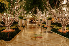 Christmas Lights. In a hotel Royalty Free Stock Photos