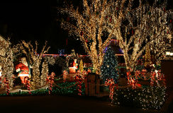 Christmas lights. Beautifully decorated homes with Christmas lights Royalty Free Stock Photography