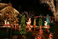 Christmas lights. Beautifully decorated homes with Christmas lights Royalty Free Stock Images